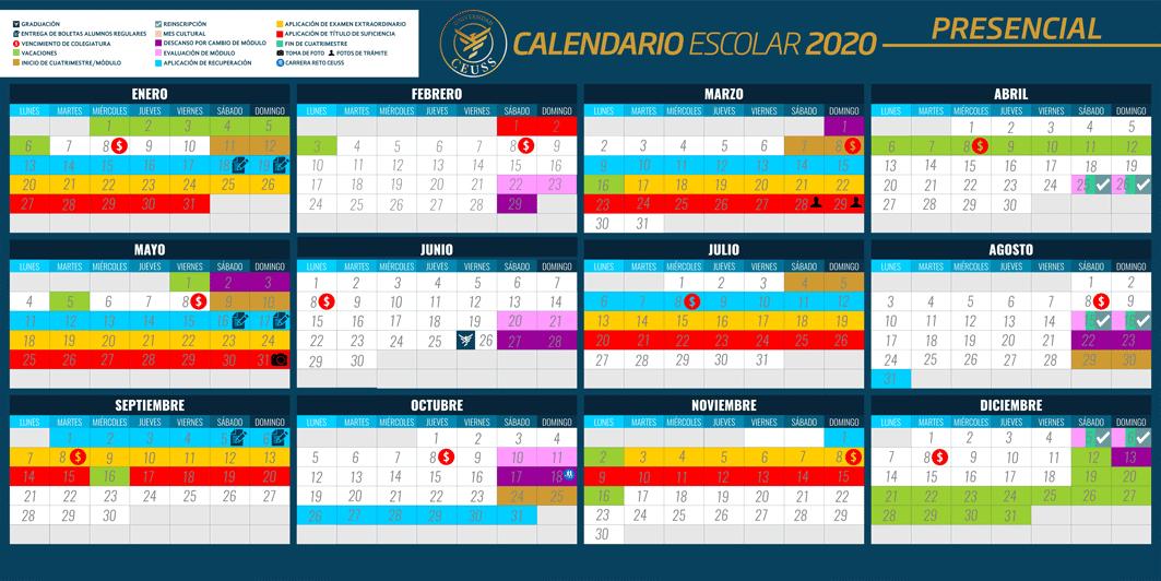 CALENDARIO ESCOLAR 2020 PRESENCIAL