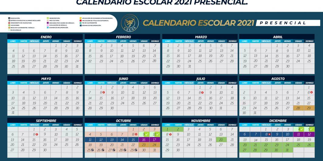 CALENDARIO ESCOLAR CEUSS PRESENCIAL